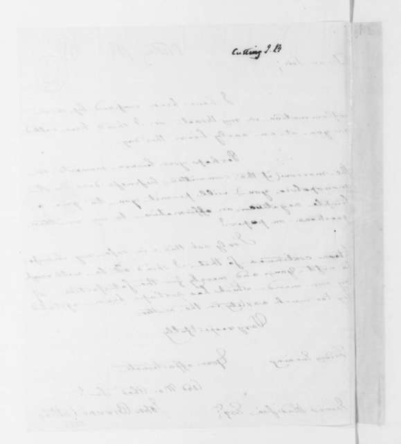 John Browne Cutting to James Madison, February 05, 1796.