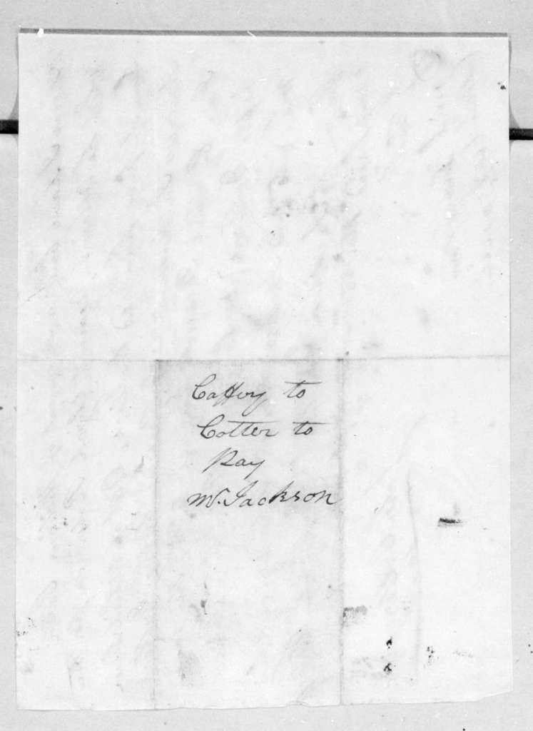 John Caffery to William Cotter, May 18, 1796