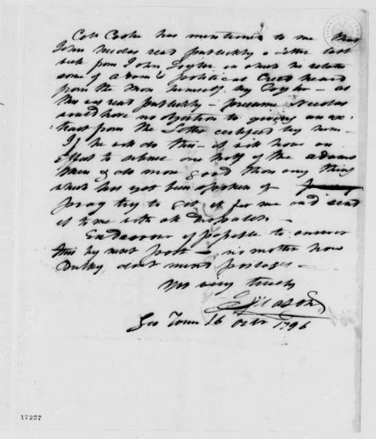 John Mason to Daniel C. Brent, October 16, 1796