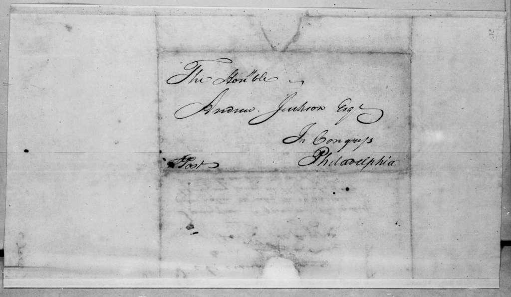 John Overton to Andrew Jackson, December 18, 1796