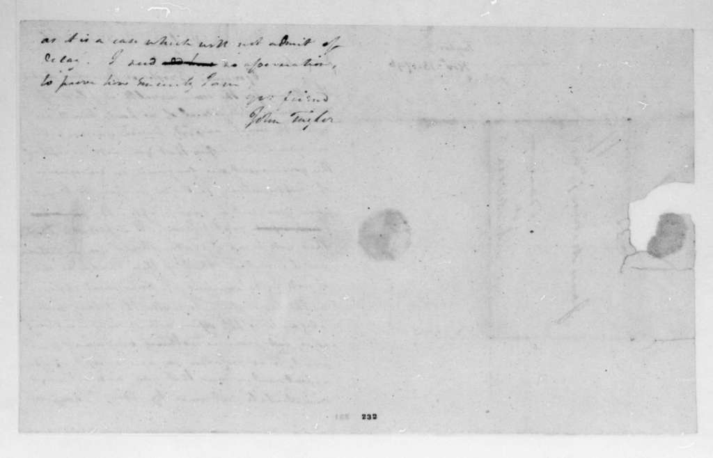 John Taylor to James Madison, November 16, 1796.