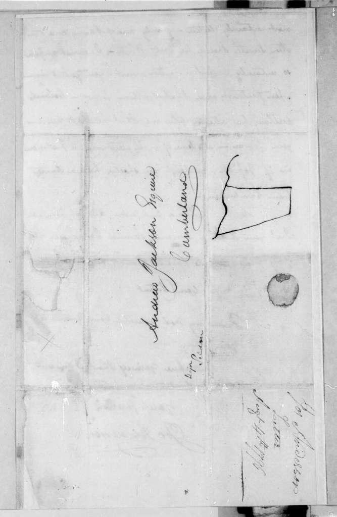 Joseph Anderson to Andrew Jackson, August 4, 1796