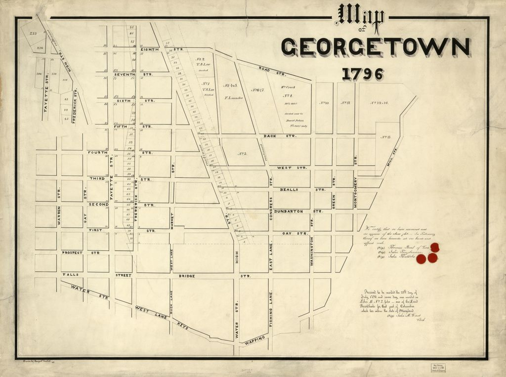 Map of Georgetown, 1796 /