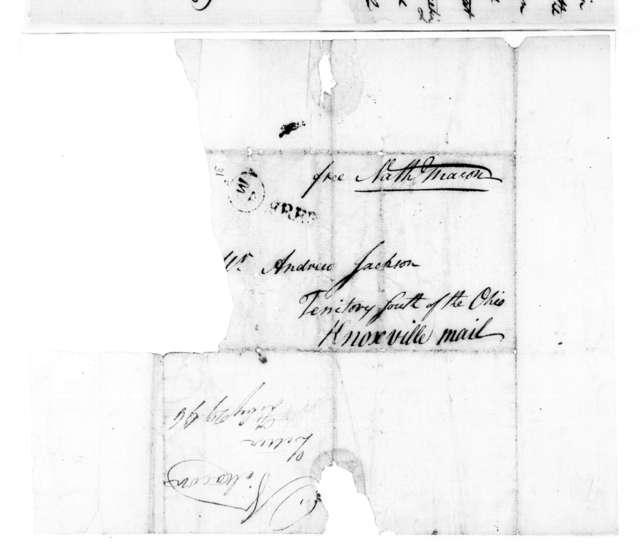 Nathaniel Macon to Andrew Jackson, February 29, 1796