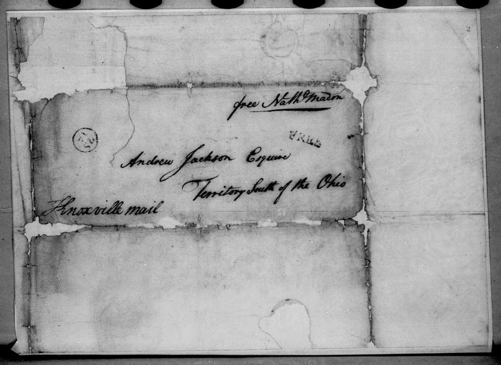 Nathaniel Macon to Andrew Jackson, January 17, 1796