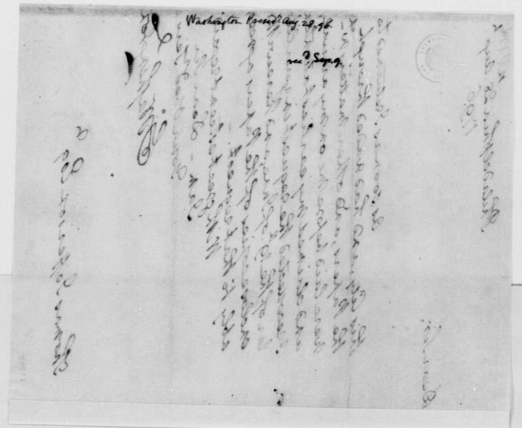 Philip Tabb to John Willis, August 30, 1796