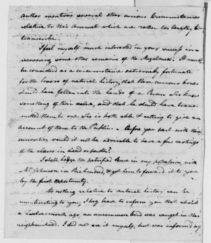 Philip Turpin to Thomas Jefferson, July 18, 1796