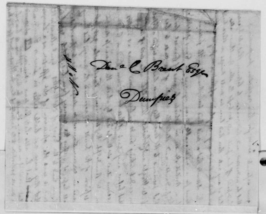 Stevens T. Mason to Daniel Brent, October 25, 1796