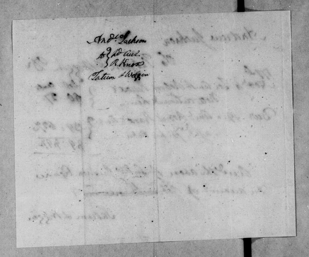 Tatum & Waggin to Andrew Jackson, November 4, 1796