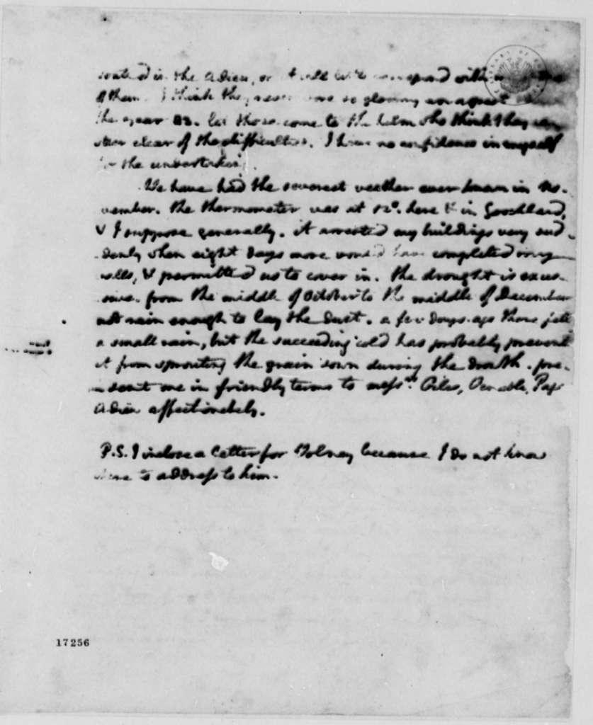 Thomas Jefferson to James Madison, December 17, 1796