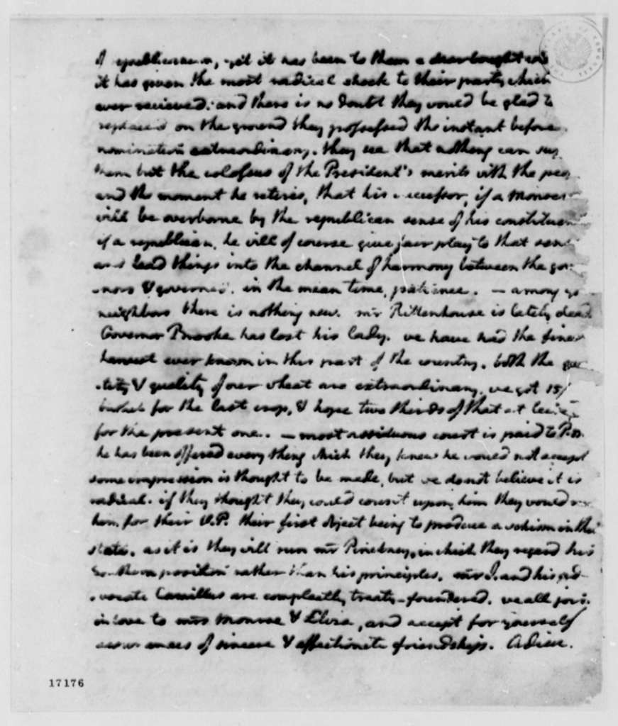 Thomas Jefferson to James Monroe, July 10, 1796