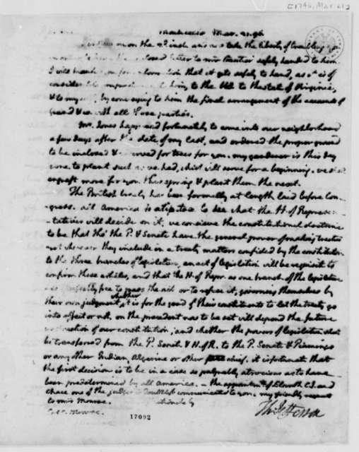 Thomas Jefferson to James Monroe, March 21, 1796