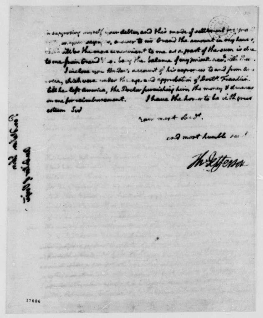Thomas Jefferson to John Pendleton, March 20, 1796