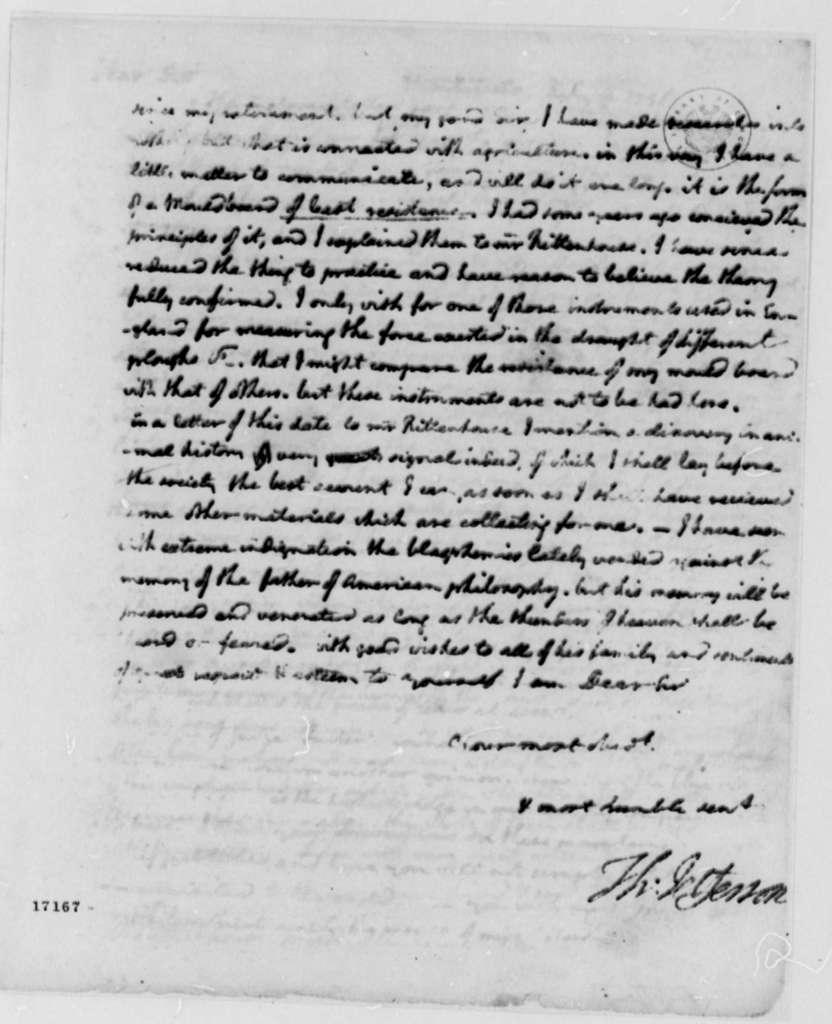 Thomas Jefferson to Jonathan Williams, July 3, 1796
