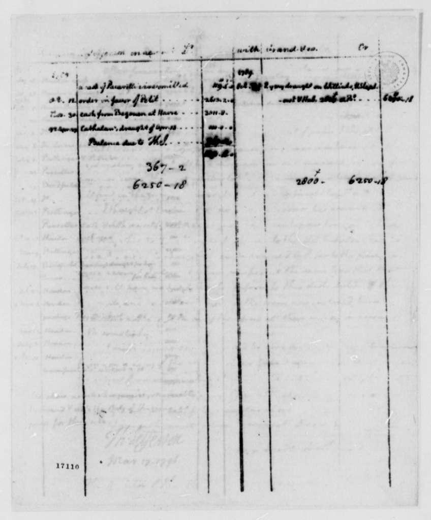 Thomas Jefferson to Richard Harrison, March 17, 1796