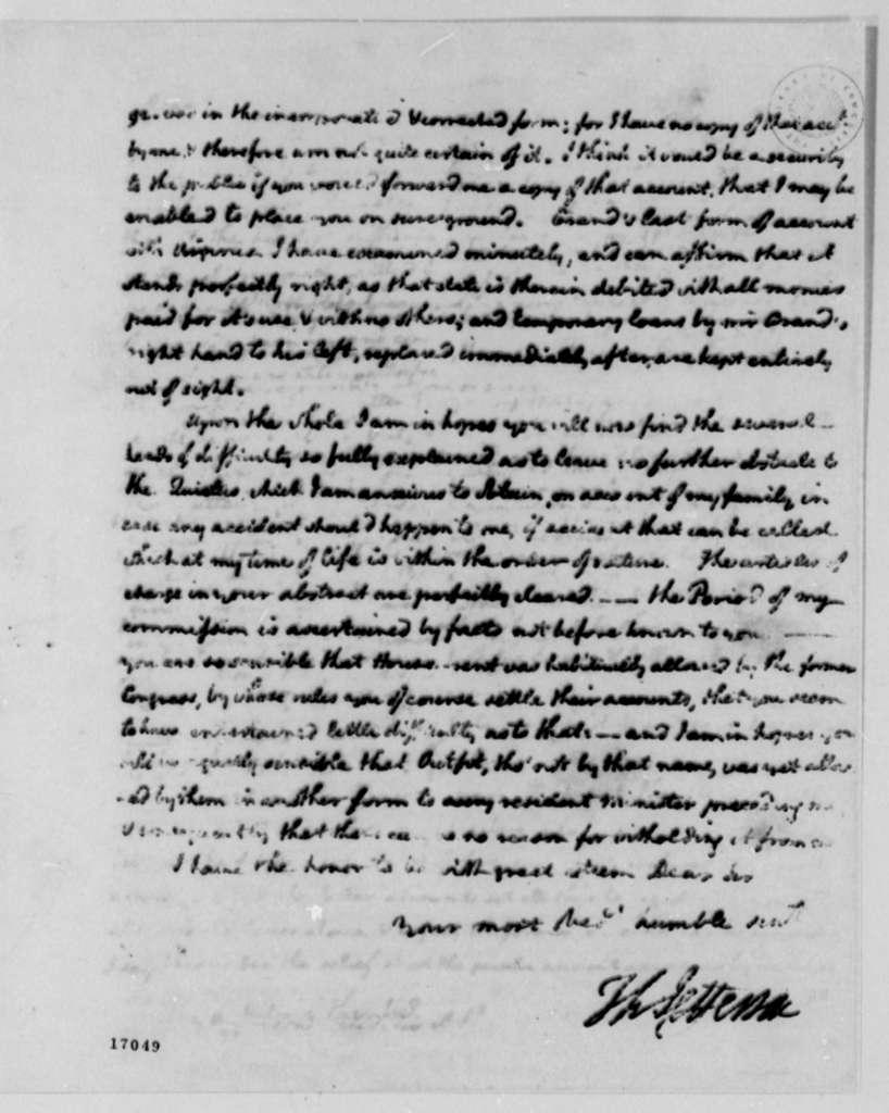 Thomas Jefferson to Richard Harrison, March 8, 1796
