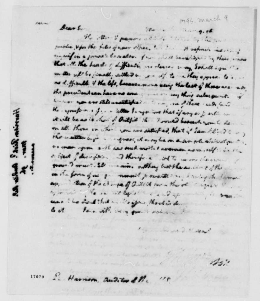 Thomas Jefferson to Richard Harrison, March 9, 1796