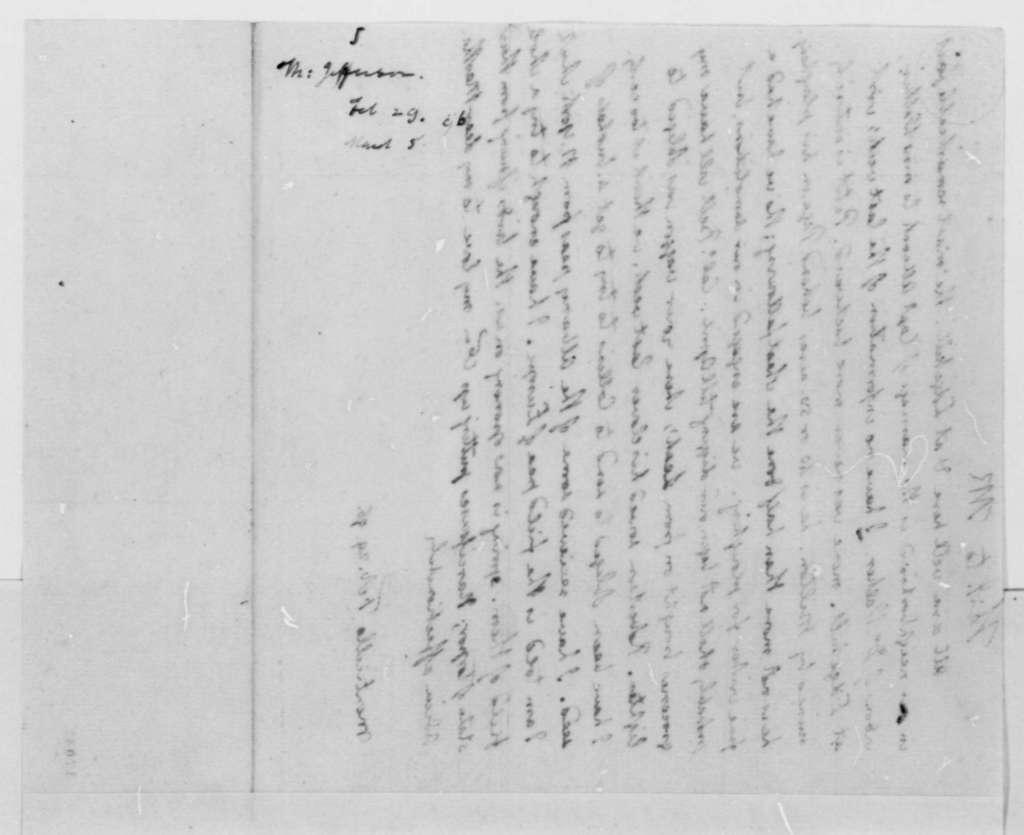 Thomas Jefferson to Thomas Mann Randolph, Jr., February 29, 1796