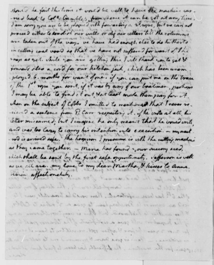 Thomas Jefferson to Thomas Mann Randolph, Jr., February 7, 1796
