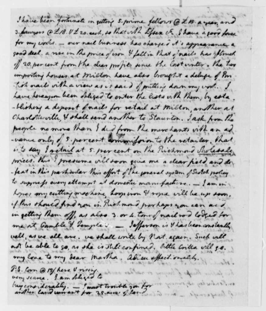 Thomas Jefferson to Thomas Mann Randolph, Jr., January 11, 1796