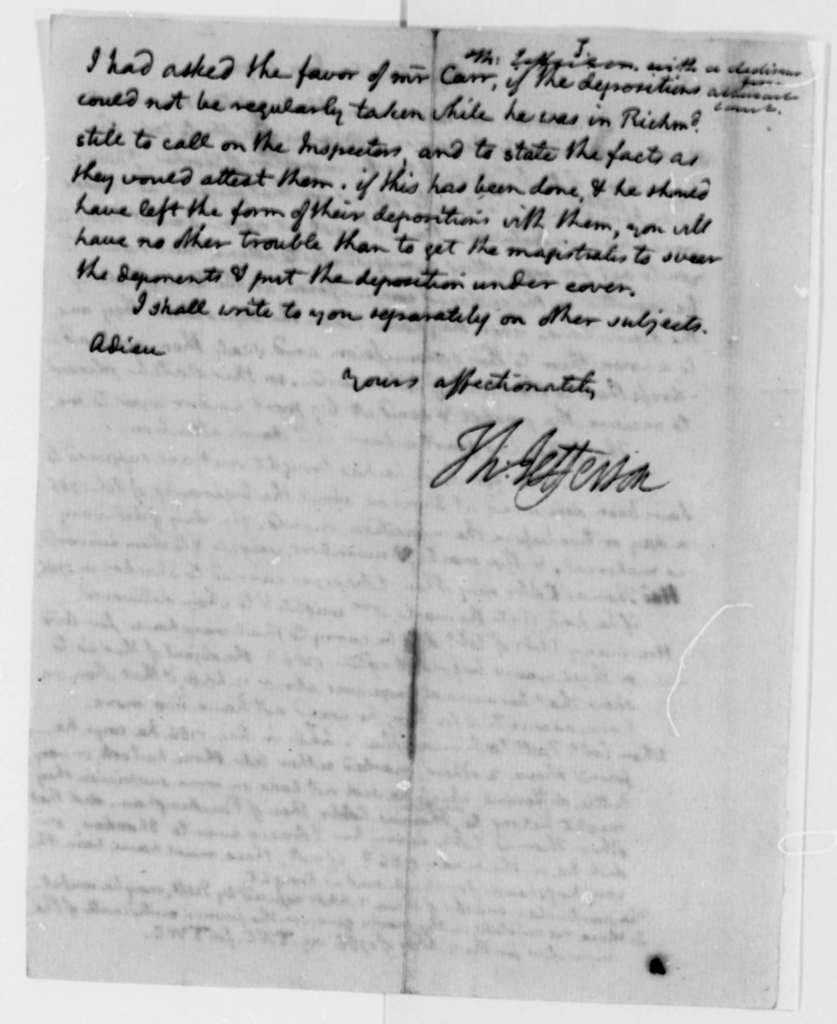 Thomas Jefferson to Thomas Mann Randolph, Jr., January 6, 1796