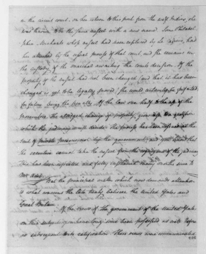 Timothy Pickering to James Madison, June 13, 1796.