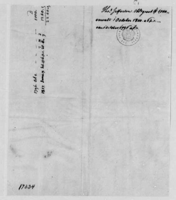 Van Staphorst & Hubbard, 1, 1796-1817, Record of Debt