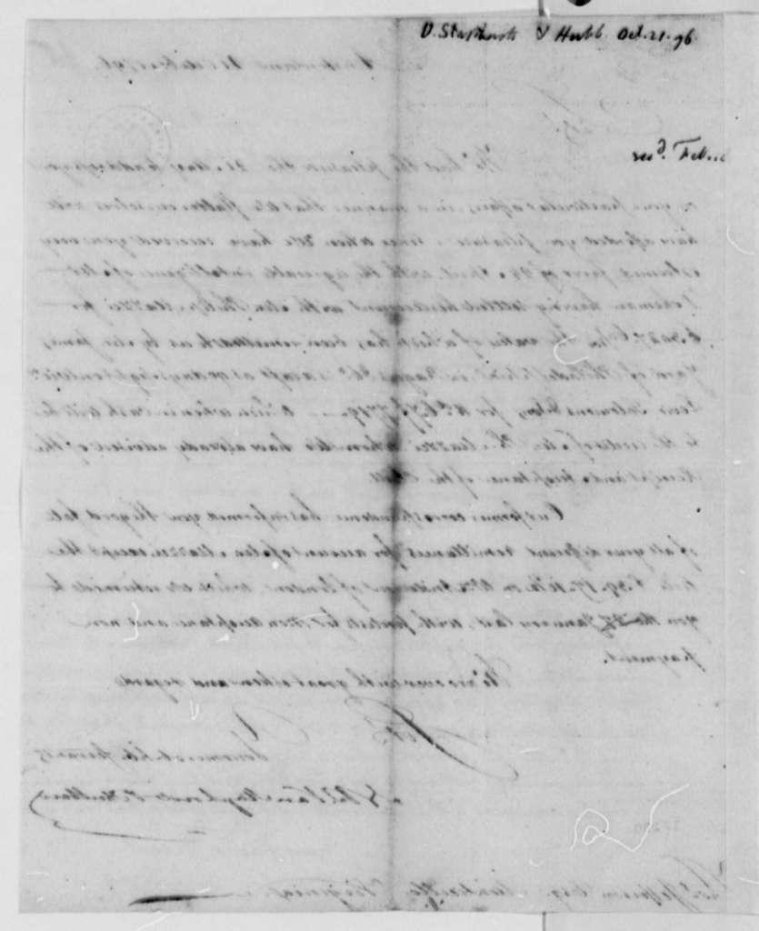 Van Staphorst & Hubbard to Thomas Jefferson, October 21, 1796