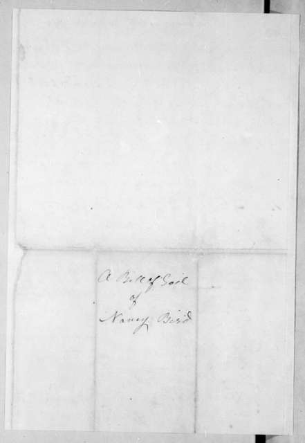 William Bird to Robert Hays, June 15, 1796