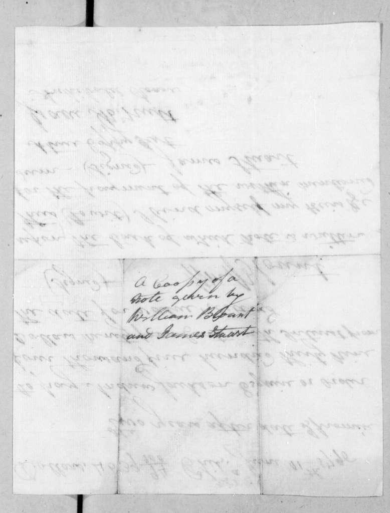 William Blount to Andrew Jackson, June 11, 1796