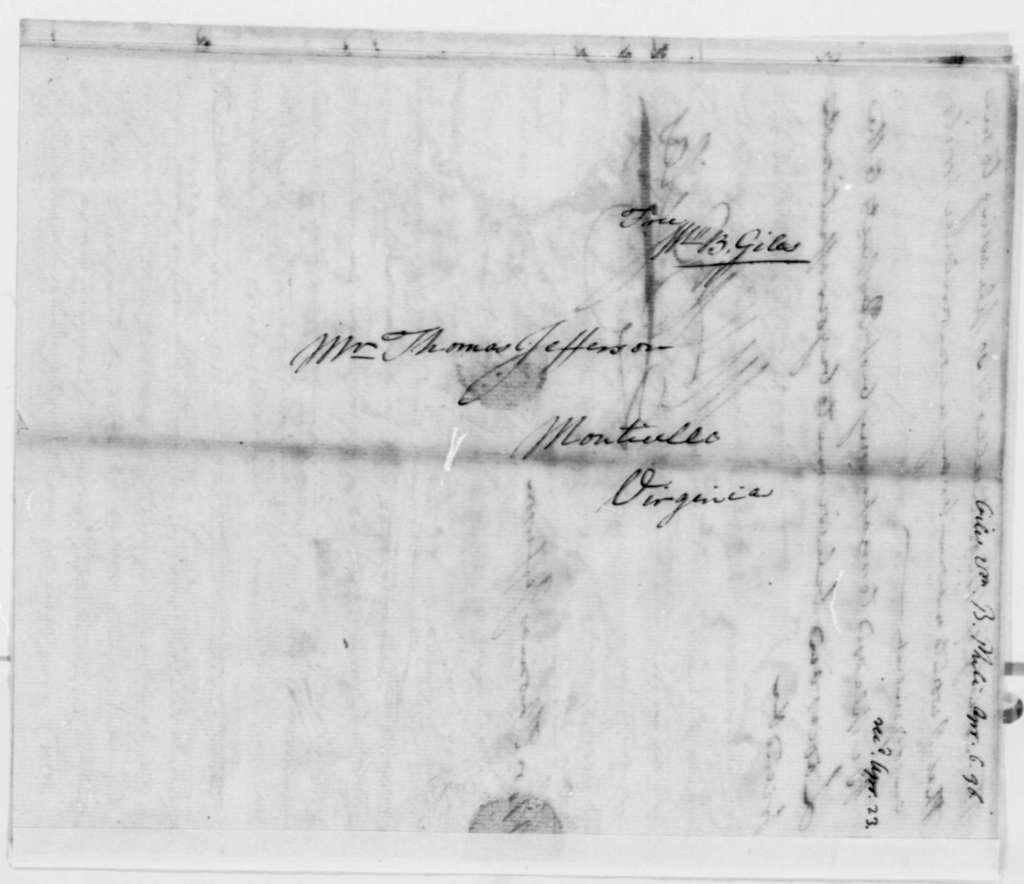 William Branch Giles to Thomas Jefferson, April 6, 1796