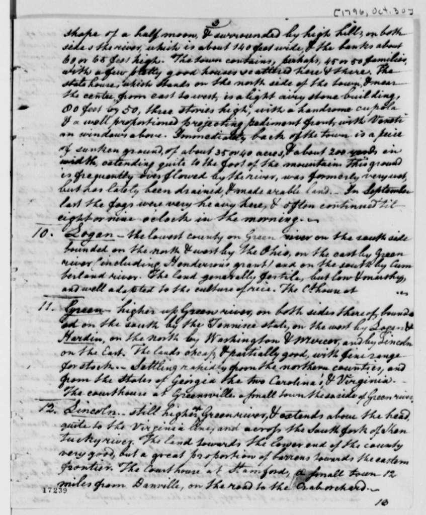 William Fleming to Thomas Jefferson, October 30, 1796