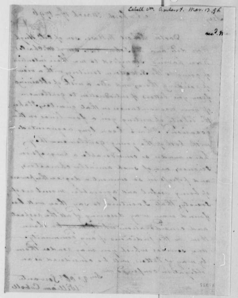 William H. Cabell to Thomas Jefferson, March 17, 1796