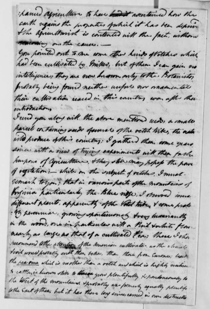 William Strickland to Thomas Jefferson, May 29, 1796
