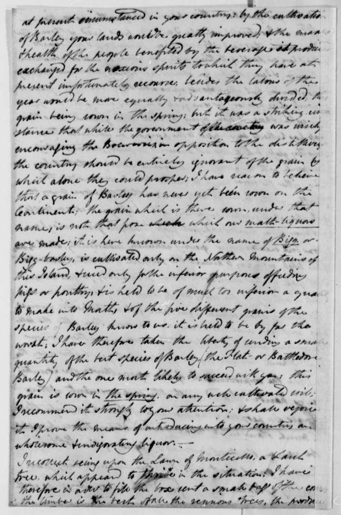William Strickland to Thomas Jefferson, May 29, 1796