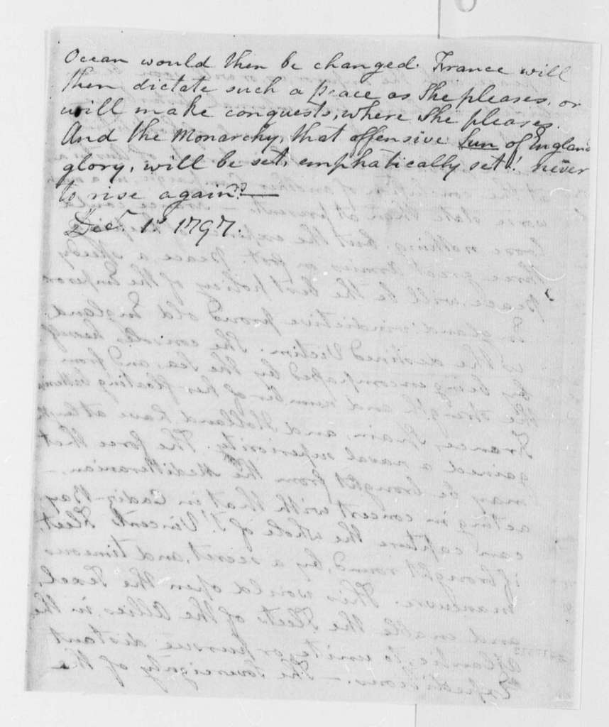 Anonymous to Thomas Jefferson, November 27, 1797, Extracts