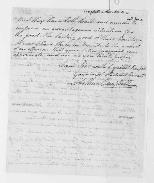 Arthur Campbell to Thomas Jefferson, December 10, 1797