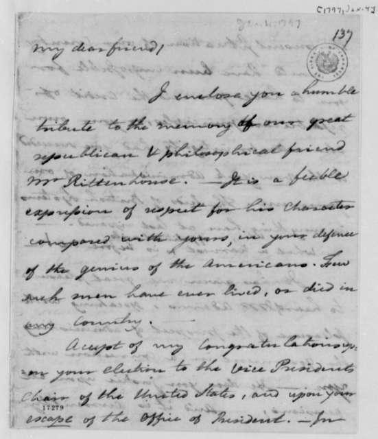 Benjamin Rush to Thomas Jefferson, January 4, 1797