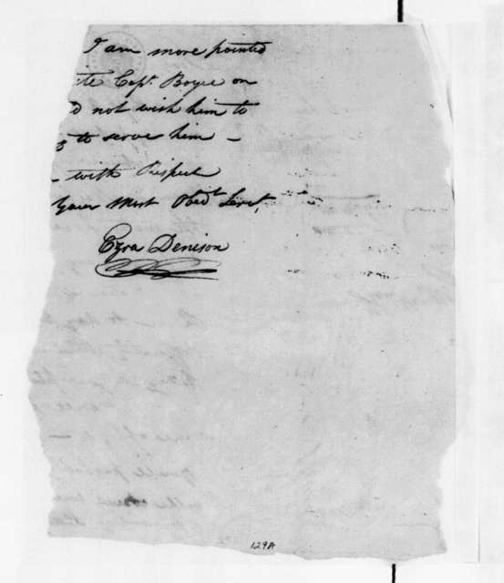Ezra Denison to Unknown, May 6, 1797