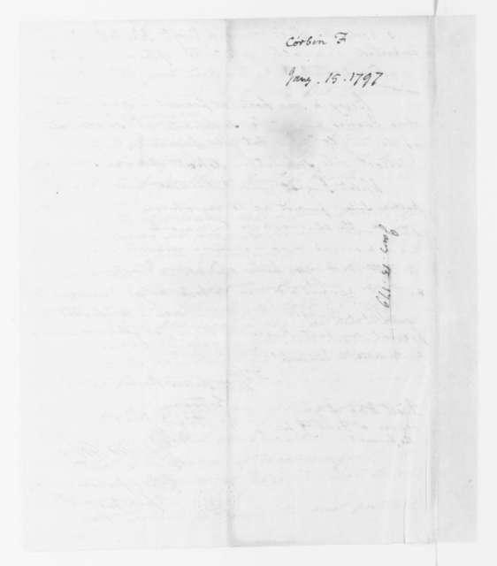 Francis Corbin to James Madison, January 15, 1797.