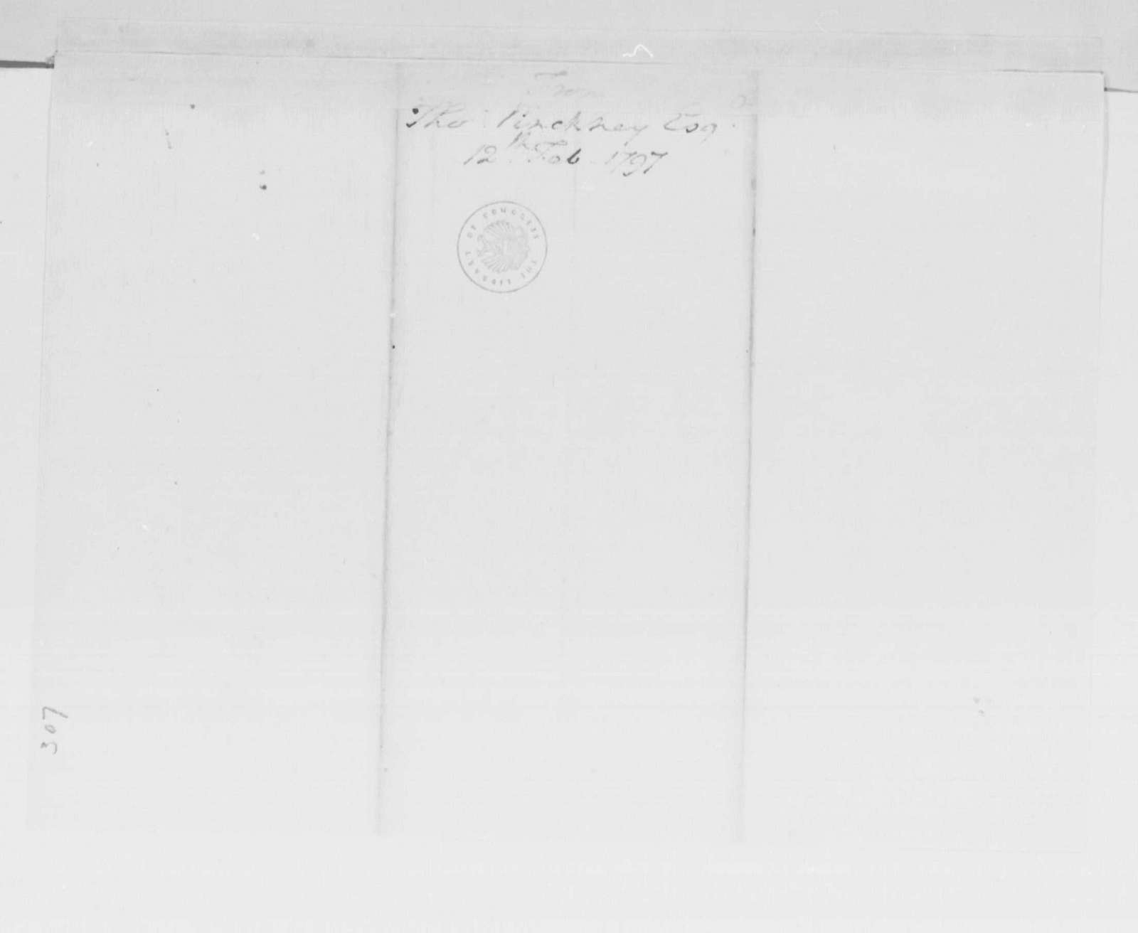 George Washington Papers, Series 4, General Correspondence: Thomas Pinckney to George Washington, February 12, 1797