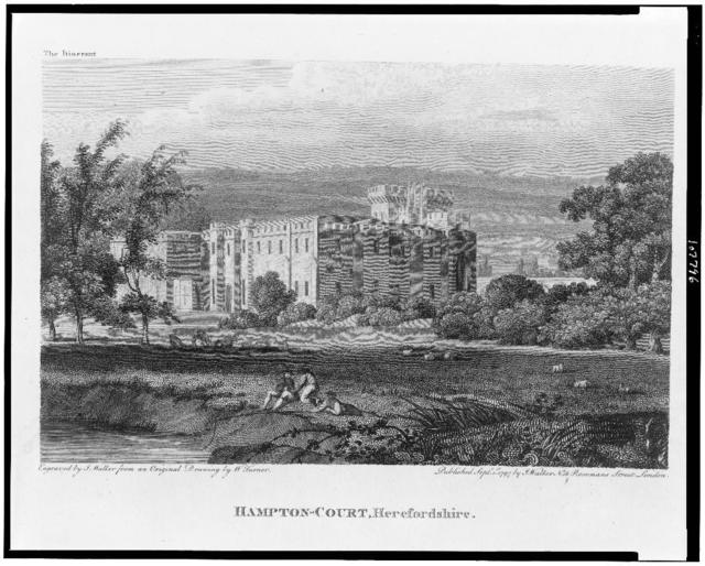 Hampton-Court, Herefordshire / Engraved by J. Walker from an original drawing by W. Turner.