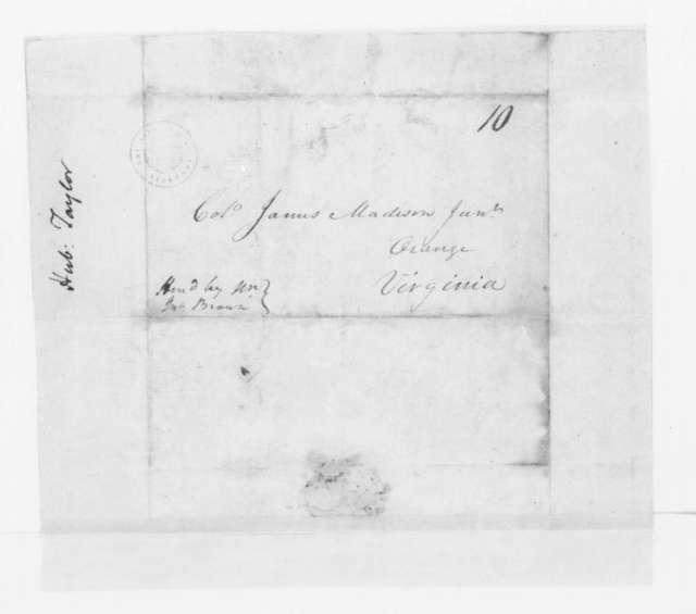 Hubbard Taylor to James Madison, November 24, 1797.