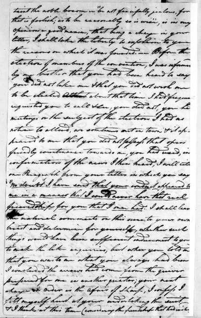 John McNairy to Andrew Jackson, May 4, 1797