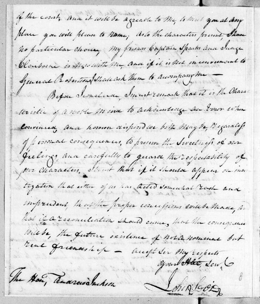 John Sevier to Andrew Jackson, May 11, 1797