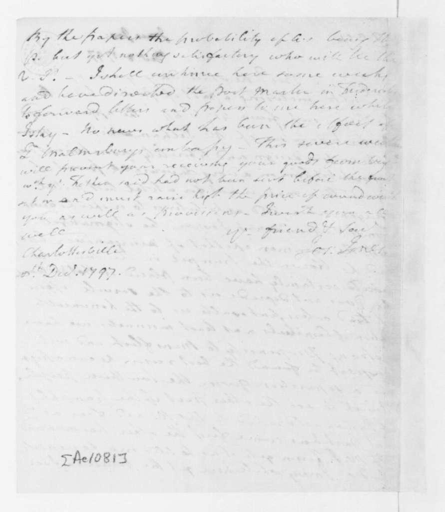Joseph Jones to James Madison, December 8, 1797.