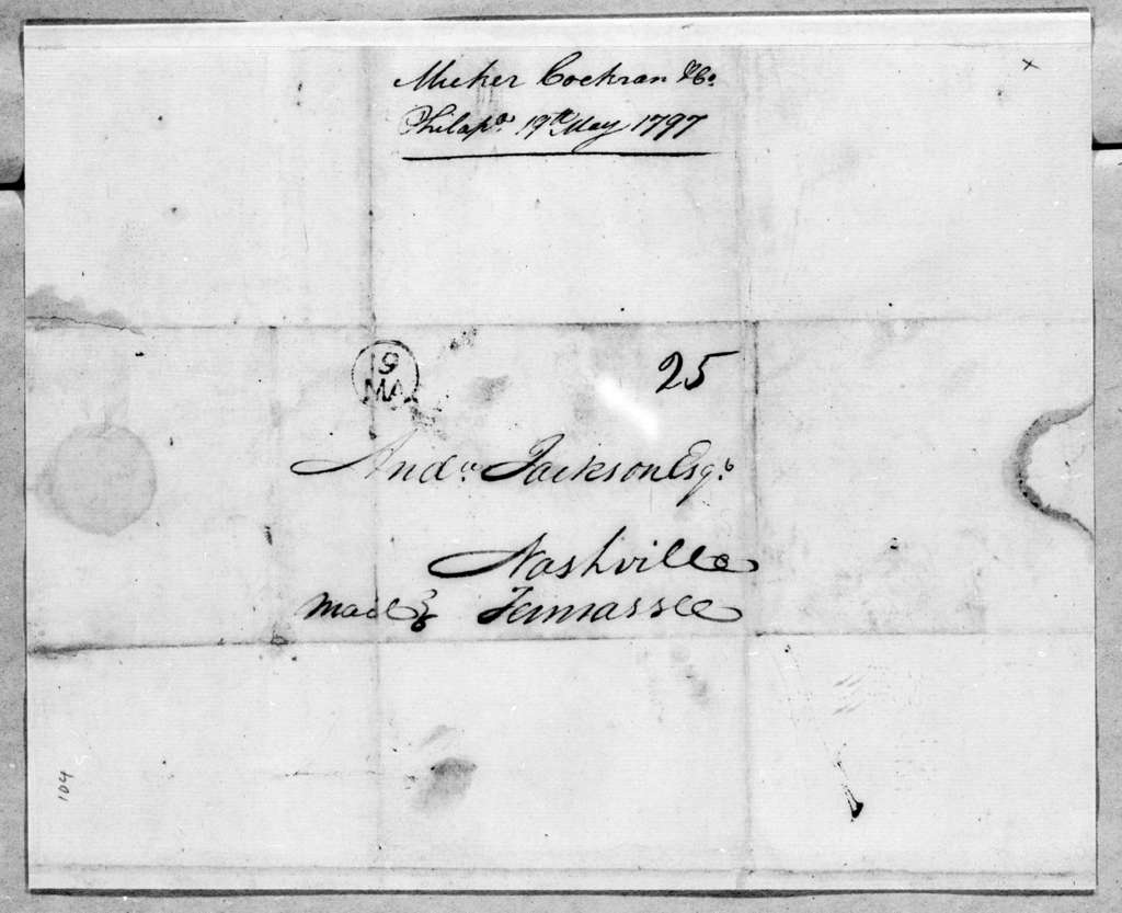 Meeker, Cochran and Company to Andrew Jackson, May 19, 1797