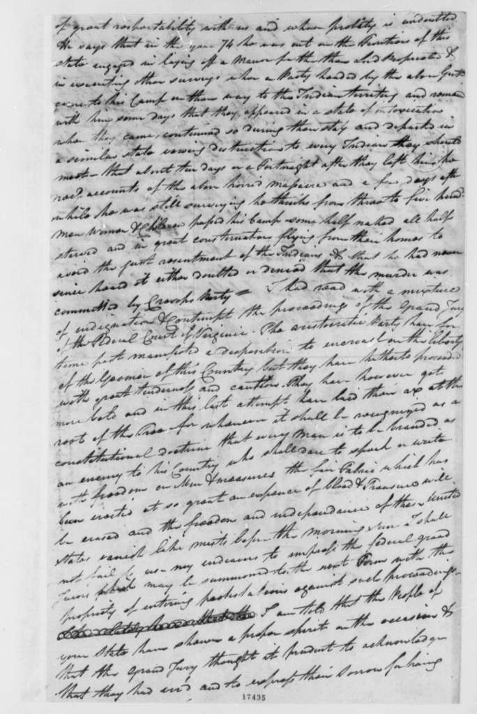 Peregrine Fitzhugh to Thomas Jefferson, June 20, 1797