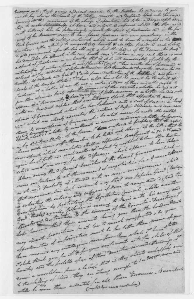 Peregrine Fitzhugh to Thomas Jefferson, October 15, 1797