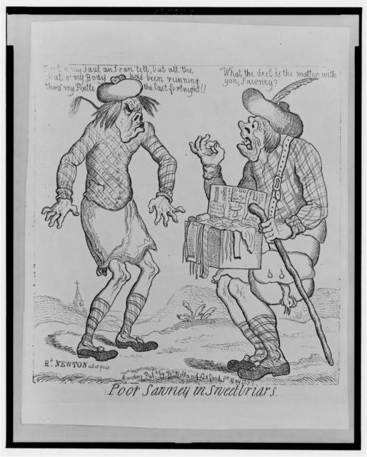 Poor Sawney in sweetbriars / Rd. Newton del et fecit.